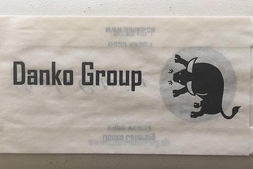 Wurstbeutel bedruckt mit Ihrem Eigenlogo! Kraftpapier, 12x5x23cm