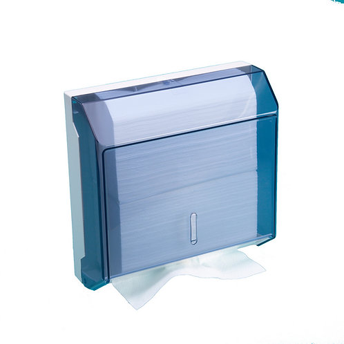 Papierhandtuch Spender,weiss transparent,300x290x115mm