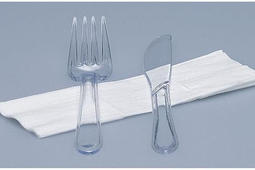 Besteck-Set PS, glasklar, 250 Stk. 3-teilig