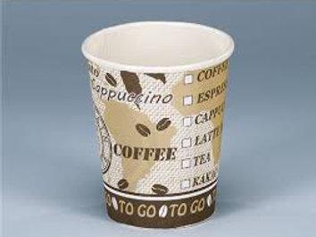Kaffeebecher Karton,weiss-braun, 3000 Stk. 1dl