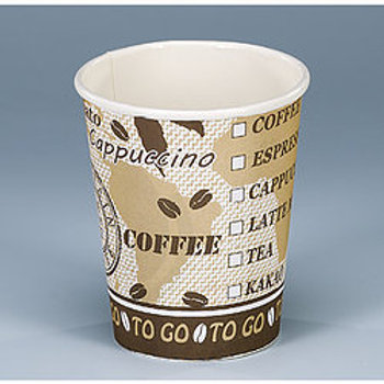 Kaffeebecher Karton, weiss-braun, 840 Stk. 2dl