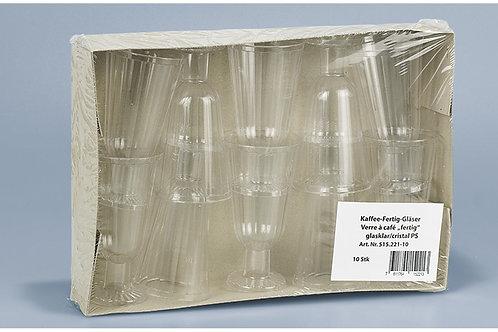 Kaffee-Fertig-Glas transparent PP, 100 Stk. 2,5dl
