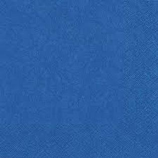 Cocktailservietten, 2-lagig,1/4 Falz, 3000 Stk. 24 x 24 cm, blau
