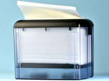 Dispenser Servietten ABS Kunststoff transparent grau, 14.8x18.8.x13cm