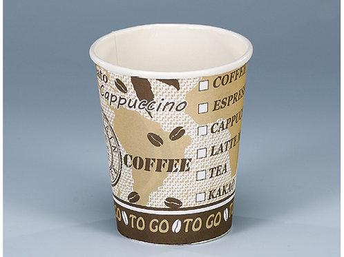 Kaffeebecher Karton, weiss-braun, 600 Stk. 3dl