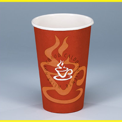 Kaffeebecher Karton, rot-orange, 1000 Stk. 4dl