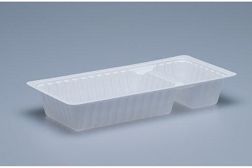 Kunststoffbehälter PS A22, weiss, 1000 Stk. 20.2x9.5x3.3 cm,2-teilig