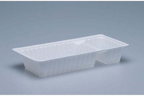 Kunststoffbehälter PS A23, weiss, 1000 Stk. 17x9.5x3.3 cm,2-teilig