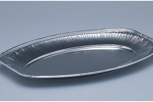 Platte Aluminium, silber, oval, 100 Stk. 24x35 cm
