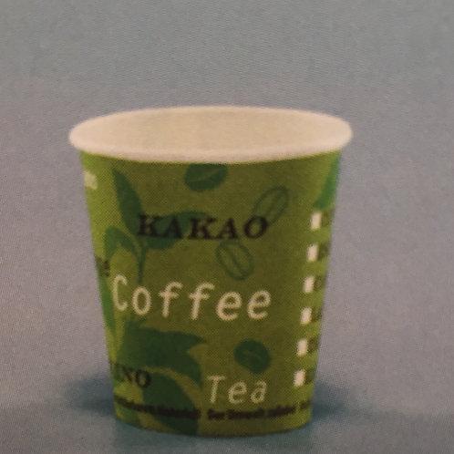 Kaffeebecher Karton,grün,3000 Stk. 1dl