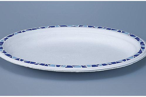 Chinetteller Zellulose, weiss mit Druck,oval, 560 Stk. 26x19 cm