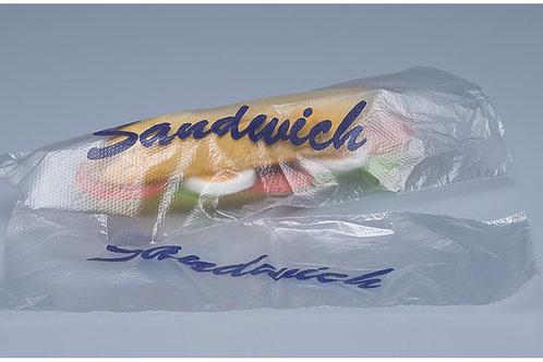 Sandwichbeutel Kunststoff, transparent, mit Druck, 1000 Stk. 29x12cm