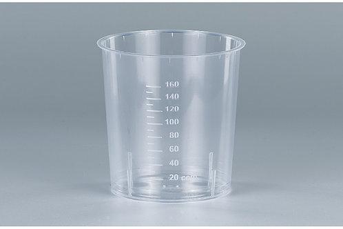 Sputumbecher PP, transparent, mit eingravierter Skala, 1000 Stk. 200 INT