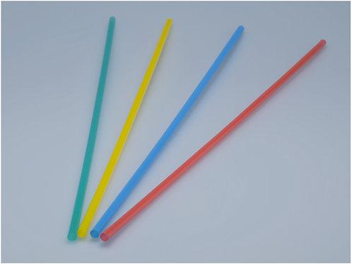 Trinkhalme farbig assortiert, 8 mm, 60 cm, 800 Stk.