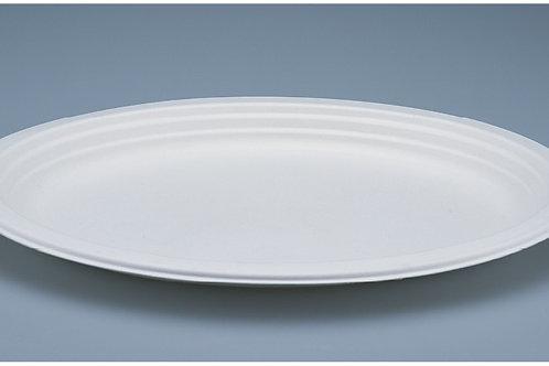 Papierfaserteller weiss,oval, 500 Stk. 31.8x25.5 cm