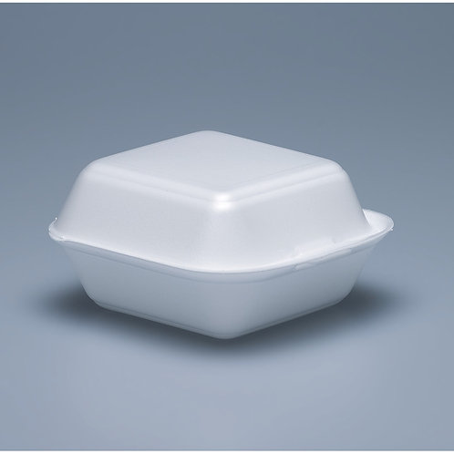 Hamburger Box EPS, weiss, 500 Stk. 14.5x14.5cm