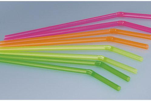 Trinkhalme farbig assortiert biegsam, 6 mm, 21 cm, 10000 Stk.