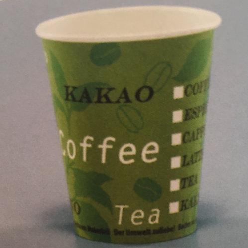 Kaffeebecher Karton, grün, 1500 Stk. 2dl
