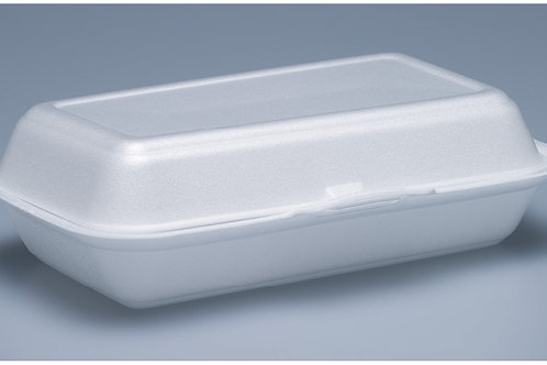 Hamburger Box EPS, weiss, 500 Stk. 24x14cm