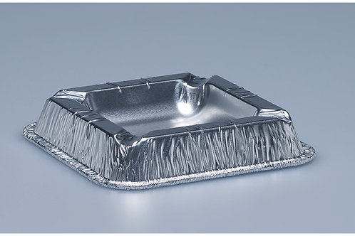Aschenbecher Aluminium, silber, 1000 Stk. 12.5 x 12.5 cm