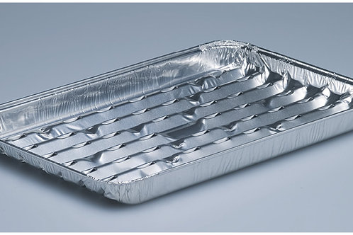 Grillschale Aluminium, silber, 120 Stk. 33.4x22.4x2 cm