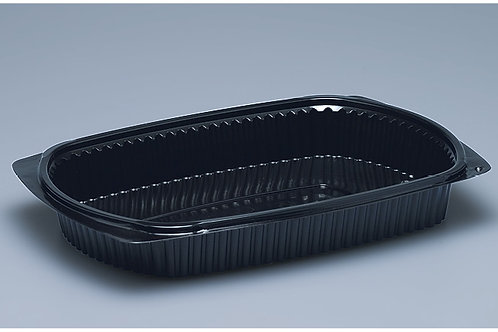 Menuschale PP, schwarz, 500 Stk. 25.8x18.3x3.6cm, 1-teilig