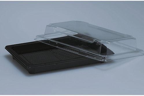 Sushi Schale APET, schwarz, 450 Stk. 18.5x12.9x2 cm