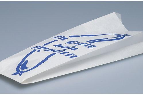 Wurstbeutel Pergament, weiss, mit Druck, 1000 Stk. 30x8.5x4cm
