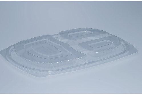 Deckel PP, transparent, 500 Stk. 25.8x18.3 cm, 3-teilig (DOM)