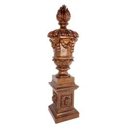 P2223 Coade Stone Flame Urn & Plinth Set