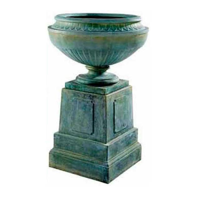 P6212 Coade Stone Vase & Plinth Set