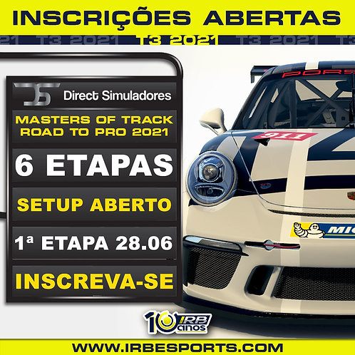 Direct Simuladores Masters of Track Road to Pro 2021