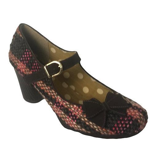 Ruby Shoo Crystal Chocolate Heel