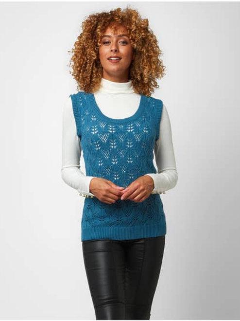 Joe Browns Retro Knitted Vest Top