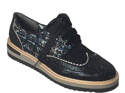 Ruby Shoo Davina Blue Brogue
