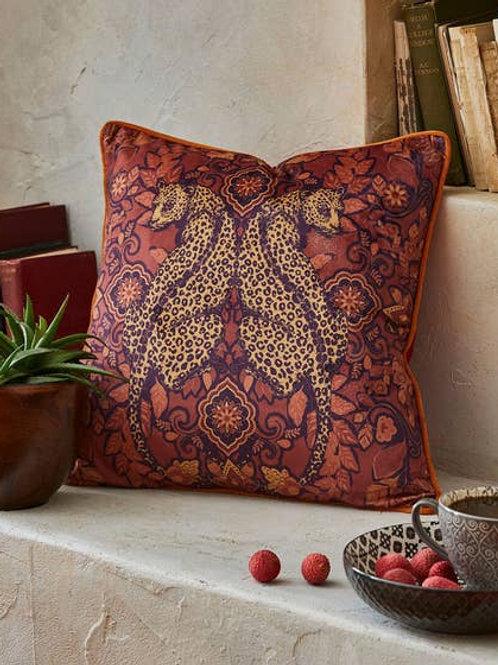Joe Browns Reflective Leopard Cushion