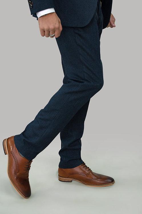 Cavani Martez Navy Tweed Trousers