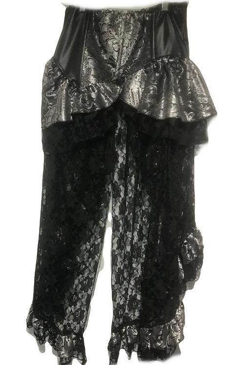 Burleska Evangeline Brown & Silver high waisted skirt
