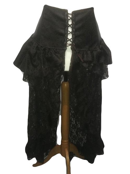 Burleska Evangeline Brown High Waisted Skirt