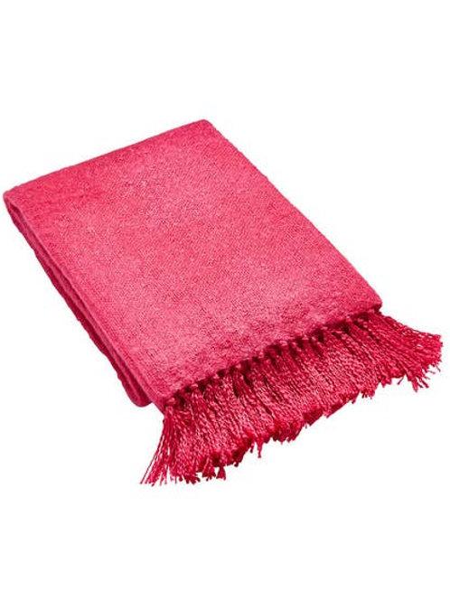 Joe Browns Faux Mohair Throw - Pink