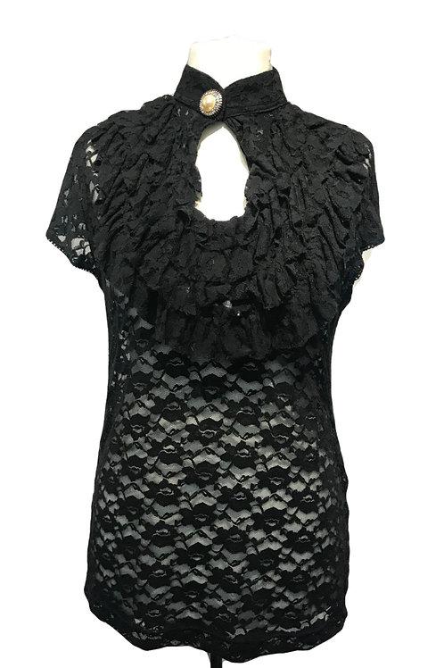 Burleska Sinister Black Lace Top