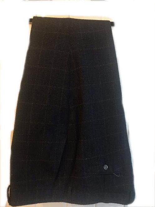 Cavani  Kemson Navy Check Tweed Trousers