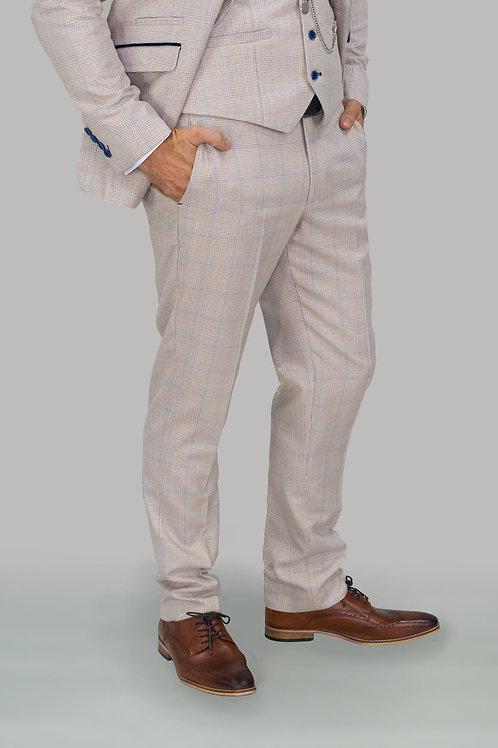Cavani Caridi Cream Slim Fit Trousers