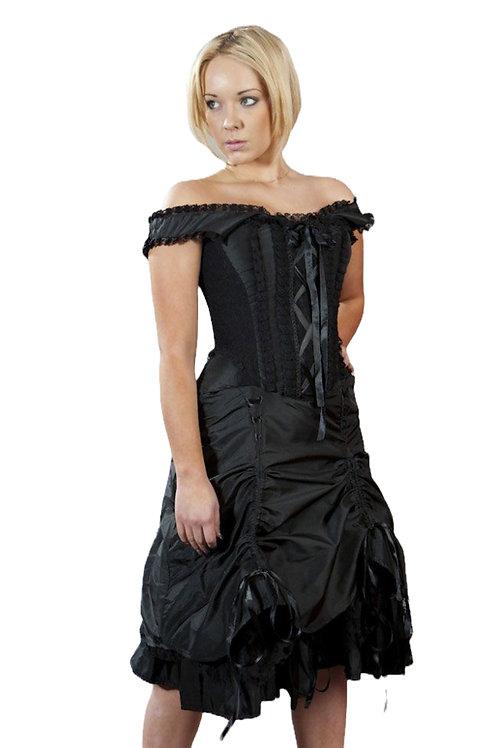 Burleska Dita victorian corset dress in black taffeta