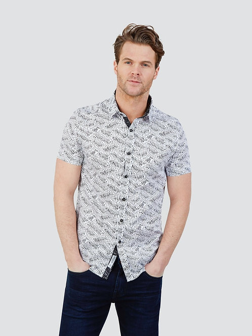 Mish Mash Riviera Tribal Print Shirt - Short Sleeve