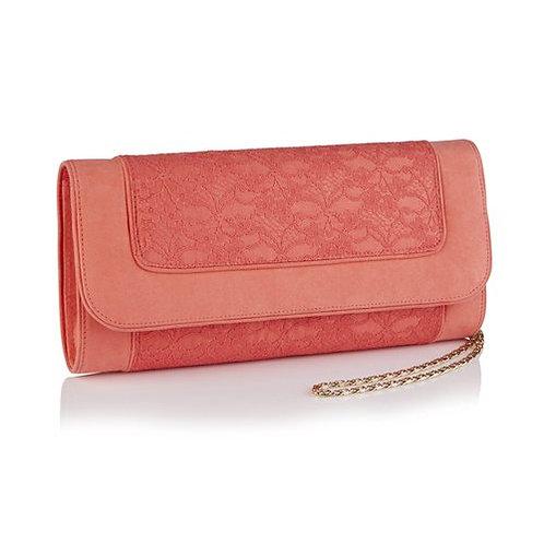 Ruby Shoo Tiriana Coral Clutch Bag