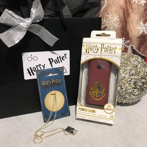 Harry Potter Gift Set - Necklace & Battery Pack - A7