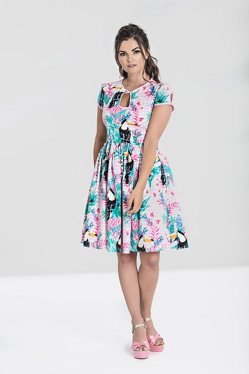 Hell Bunny Toucan Mid Dress