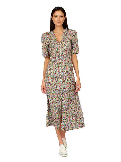 Pretty Vacant Frenchie Ditsy Print Dress
