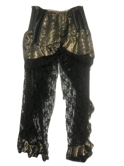 Burleska Evangeline Brown & Gold high waisted skirt